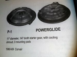 1965 1969 Corvair Torque Converter Powerglide Transmission 1800 2300 Stall 70411
