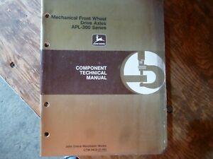 John Deere 700 3155 2155 Mechanical Fwd Axle Shop Service Repair Manual Ctm 4422