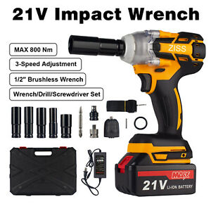 4 in 1 21v Electric Cordless Impact Wrench Max 800nm 1 2 Drive Drill Battery