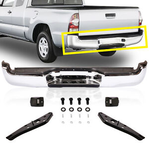 Rear Steel Chrome Step Bumper Assembly Fit 2005 2014 Toyota Tacoma To1103113