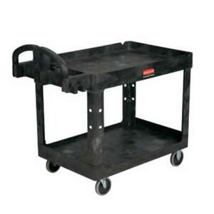Rubbermaid Commercial Two Lipped Shelves Utility Carts 086876204810