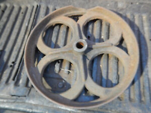 Vintage Lumber Cart Cast Iron Wheel Chipped