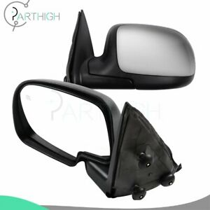 Set For Chevy Gmc Truck Chrome Heated Power Side View Mirrors Left Right Pair