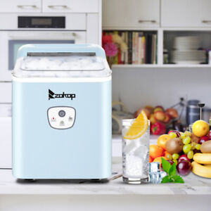 Portable Ice Maker Machine Countertop 26lbs 24h Self cleaning W Scoop Blue