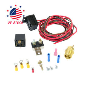 Fits 330 351w Engines Fan Thermostat Relay Kit 175 To 185 Degree Wiring Switch