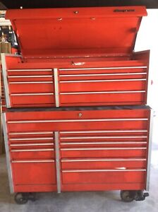 Snap On Snapon Snap on Red E Coat Three 3 Piece Tool Box Set