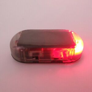 Fake Solar Red Car Led Alarm Light Security System Warning Theft Flash Blinking