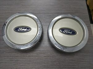 2003 06 Ford Expedition Wheel Cover Center Caps Pair Hub Oem 2l14 1a096 cc