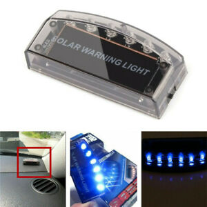 Car Led Solar Power Fake Dummy Alarm Warning Security Anti Theft Flashinglight