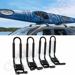 Canoe Boat Kayak Roof Rack Car Suv Truck Top Mount Carrier 2 Pairs J Cross Bar
