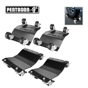 Pentagon Tool Commercial Grade 4 pack Tire Dolly Tire Skates Black