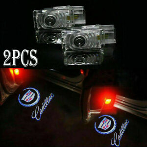 For Cadillac Ghost Led Logo Door Courtesy Shadow Laser Light Xts Srx Ats 2pcs
