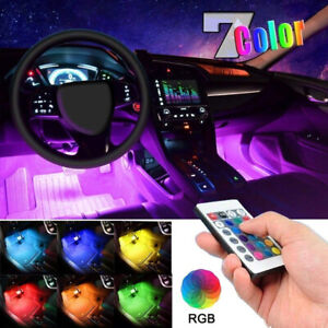 Universal Interior Lights For Car Floor Under Seat dash Rgb Led Decor Strip Lamp