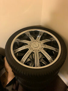 I Have 4 22 Rims With 3 Good Tires For Sale Asking 500 For Everything