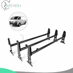 3 Bar Van Roof Ladder Rack Cargo Carrier Square 3 Rail For Chevy Dodge Ford Gmc