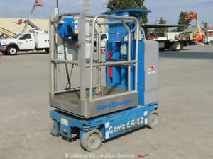 2012 Genie Gr 12 Electric 12 Vertical Mast Lift Personnel 24v Bidadoo repair