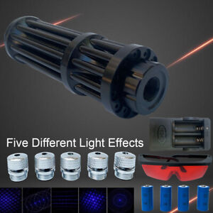 High Power 450nm Visible Beam Light Laser Pointer Pen With 4pcs Batteries Box