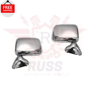 New Left Right Side Manual Mirror Chrome Set Of 2 For 1989 1995 Toyota Pickup