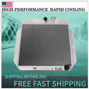 3 Rows All Aluminum Radiator For 1960 1962 1961 Chevy Chevrolet Truck