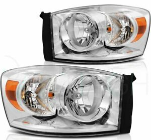 Headlights For 2006 2009 Dodge Ram 1500 2500 3500 Headlamps Assembly Left right