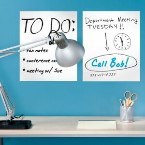 Removable Dry Erase Sheets With Marker 6 Pack
