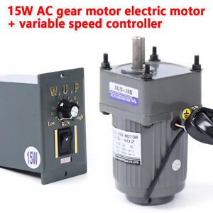Gear Motors Electric Variable Speed Controller 1 10 125rpm Torque Large 110v 15w