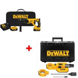 Dewalt Dch133m2 20v Max Xr 1 D handle Rotary Hammer With Free Dust Extractor