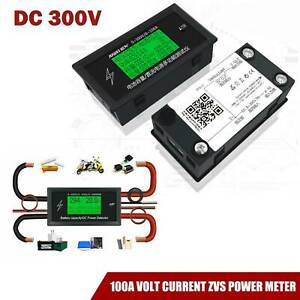 Dc 300v 100a Volt Current Zvs Power Meter Detector Discharge Battery Monitor