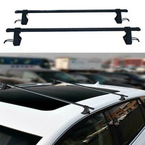 2pcs 54 Universal Top Roof Rack Rail Cross Bars Luggage Carrier Car Suv Truck