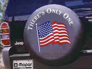 Jeep Wrangler Liberty P225 75r16 American Flag Logo Spare Tire Cover