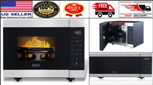 Galanz 3 in 1 Counter top Air Fryer Convection Microwave Oven 0 9 Cu ft Black