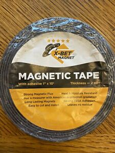 X bet Magnet Magnetic Tape 1 Inch X 10 Feet With Adhesive 2 Mm Thick