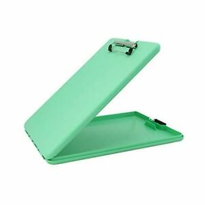 Saunders Mint Leaf Slimmate Plastic Storage Clipboard With Low Profile Clip