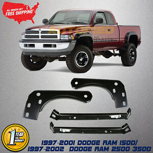 Front Bumper Inner Outer Mounting Brackets For 1997 2002 Dodge Ram 1500 3500