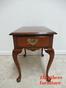 Harden Furniture Solid Cherry Chippendale One Drawer Lamp End Table A