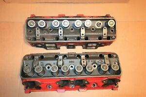 2 1957 Ford 312 Y Block Ecz G Cylinder Heads Rat Hot Rod 272 292