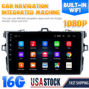Android 9 1 Gps Navigation Car Stereo Radio Tp Wifi For Toyota Corolla 2006 2012