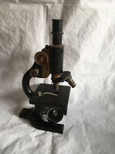 Antique Spencer Buffalo Microscope Serial 100526 Clear Lens Nice Condition