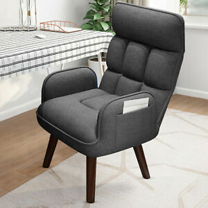 Arm Chair Accent Single Sofa Linen Fabric Upholstered Living Room Home Hot 2021