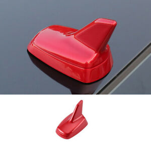 Red Abs Shark Fin Antenna Aerial Cover Trim 1pcs Fit For Mazda 3 Axela 2020 2021