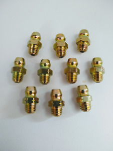 1 4 28 Thread Forming Straight Grease Zerk Nipple Fittings 10 Pcs