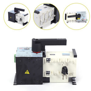 Automatic Dual Power Transfer Switch Ac 400v 100a Generator Changeover Switch