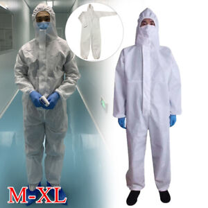 Coveralls Protective Suit Safety Hood Overall Work Clothing Breathable Set