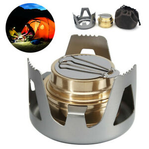 Mini Outdoor Portable Alcohol Stove Burner For Backpacking Hiking Camping Picnic
