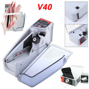 Handy Bill Money Counter Cash Currency Count Counting Banknote Machine V40 V30