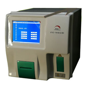 110v Automatic Blood Analyzer Hematology Analyzer Blood Cell Count 23 Parameters