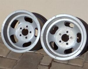 Vintage 15x8 5 Aluminum Slot Mag Wheels 5 On 4 75 Bolt Pattern Gm Cars Real Deal