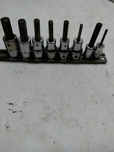 Snap On Tools 6 3 8 2 1 4 Drive 8 Pc Sae Hex Allen Socket Set
