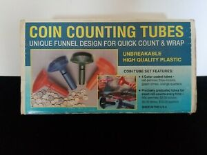 Fast Wrap Coin Counting Tubes Assorted Change Sorter Counter