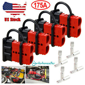 4x 175a Battery Quick Connect Disconnect Plug Winch Terminal Connector 600v 2awg